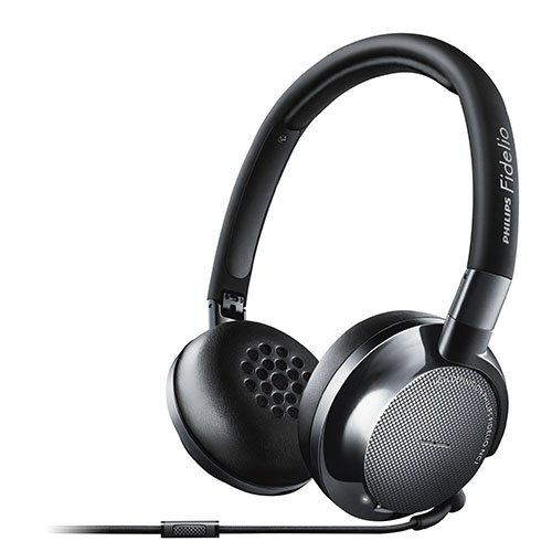 Philips NC1/27 Fidelio Noise Cancelling Premium Headphones with Ergonomic Memory Foam Cushions and Compact Multi-Way Folding for Easy Travel, Black