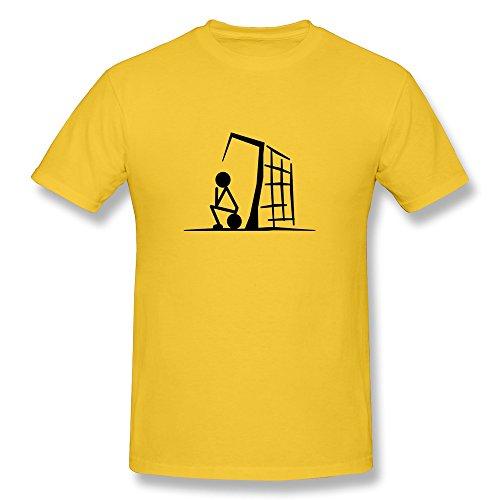 Men Goalkeeper T Shirt,Yellow Tshirts By HGiorgis XL Yellow - Kid Athlete Athletic T-shirt