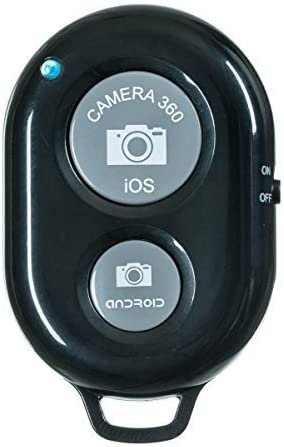 Black Bluetooth Remote Camera Press Shutter Button for Taking Selfie Photo