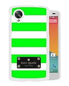 Unique Designed Kate Spade Cover Case For Google Nexus 5 White Phone Case 123