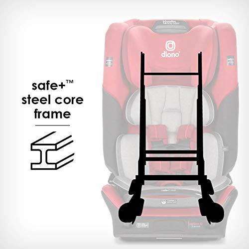 41TQ1oXG4cL - Diono Radian 3QX 4-in-1 Rear & Forward Facing Convertible Car Seat | Safe+ Engineering 3 Stage Infant Protection, 10 Years 1 Car Seat, Ultimate Protection | Slim Design - Fits 3 Across, Red Cherry