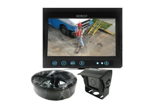 Cheap Heavy Duty Rear View Backup Camera System Complete w/7″ Color Monitor, Weather Proof Camera, 65′ Harness
