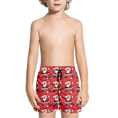 XULANG Boys Girls Funny Dabbing Santa Claus Christmas Dab White Swimming Trunks Jogging Bathing Suit Casual Boardshorts ()