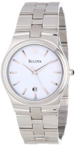 Bulova Men's 96B106 Bracelet White Dial Stainless Steel Watch ()