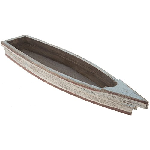 Rustic Blue Wooden Boat Tray