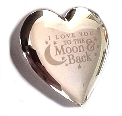 I LOVE YOU TO THE MOON And BACK Silver TRINKET BOX Gifts Presents Ideas For Her