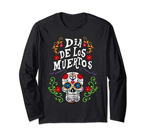 Halloween Sugar Skull Costume Dia De Los Muertos Shirt