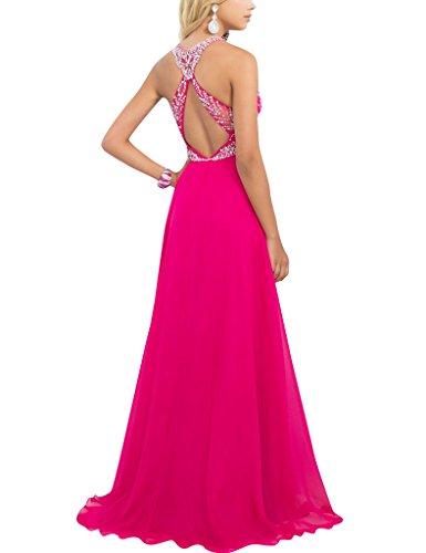 HUINI Wulstige Sequins blo?e Chiffon Lange Abschlussball Abend Kleid Partei Formale Kleider Size 38