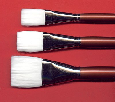 Robert Simmons White Sable Short Handle Brushes 1 1/2 in. one stroke 721