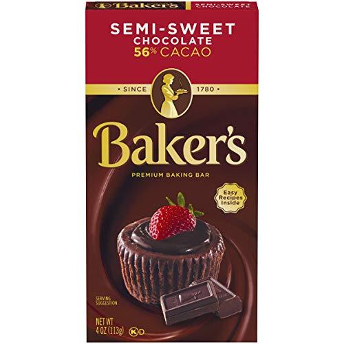 Baking Chocolate - Baker's Semi-Sweet Baking Chocolate Squares, 4 oz