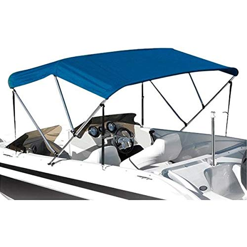 Eevelle Summerset Elite Sunbrella 3 Bow Canvas Bimini Replacement Top, Marine Blue, 72