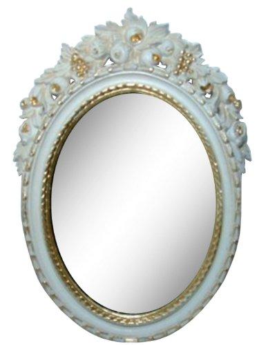ロイヤルアーデン アンティーク調鏡 壁掛けミラー ホワイト 約36×56cm 84288 B00JUGTC36