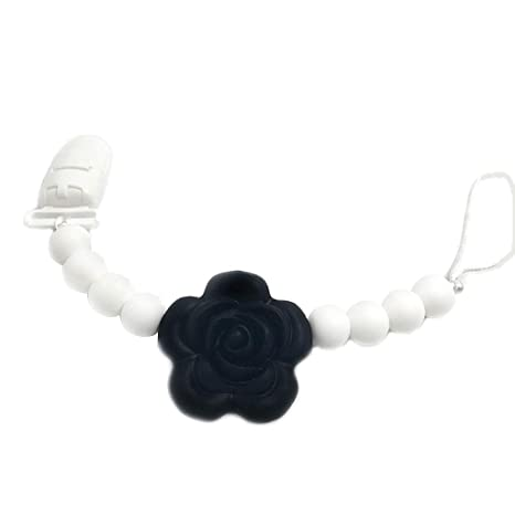 MIsha Cadena chupetes silicona personalizado flor Juguete para ...