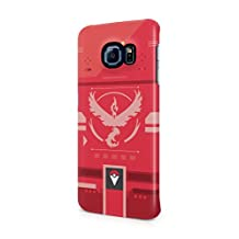 Pokemon GO Team Valor Themed Pokedex Hard Plastic Snap-On Case Cover For Samsung Galaxy S6 Edge Plus