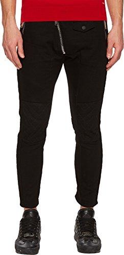Dsquared2 Leather Jeans - DSQUARED2 Men's Leather Biker Fit Jeans Black 52