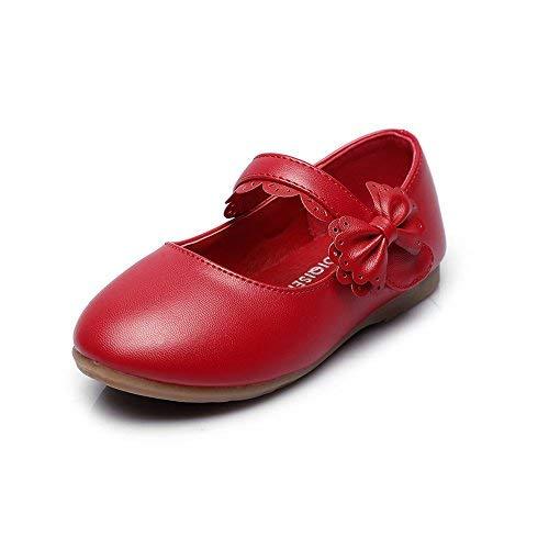 Cixi Maxu E-Commerce.Co.Ltd Girls Mary Jane Bow Side Strap B