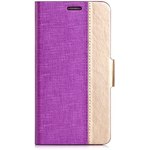 Samsung Galaxy S7 Case, FYY [Top-Notch Series] Luxurious PU Leather Case All-Powerful Cover for Samsung Galaxy S7 Noble Purple & Luxury Gold Sales