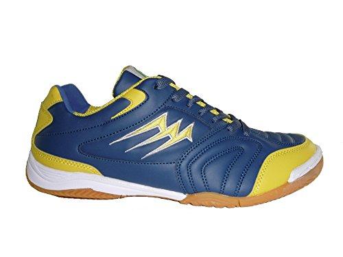 AGLA - Zapatillas de fútbol sala de Material Sintético para hombre Media Navy/Yellow