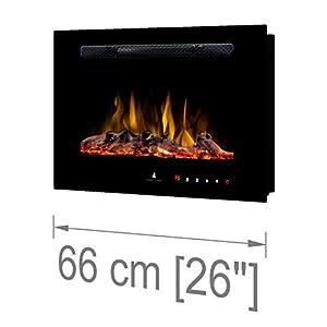 Noble Flame Paris 660 (66 cm/ 26 Canneggio L Nuovo - Camino Elettrico Parete Camino Stufa Camino - Montaggio Parete… 4 spesavip