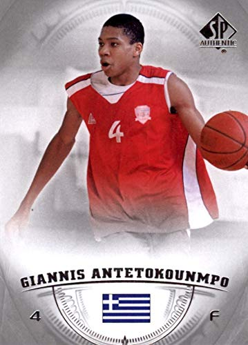 (2013-14 Upper Deck SP Authentic - Giannis Antetokounmpo - Milwaukee Bucks Prospect Basketball Rookie Card - RC Card #36)