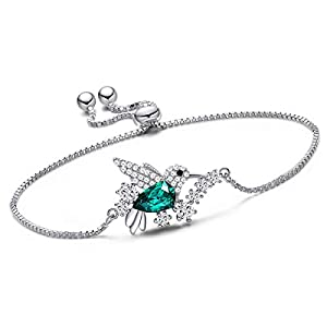 CDE Gifts for Women Hummingbird Necklaces and Bracelet S925 Sterling Silver Necklaces Jewelry Bracelet Gifts for Ladies…