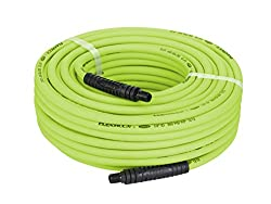 Flexzilla Air Hose, 14 In. X 100 Ft., 14 In. Mnpt Fittings, Heavy Duty, Lightweight, Hybrid, Zillagreen - Hfz14100yw2