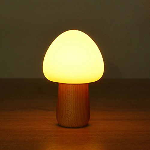 Beech Modern Desk - Night Lights for Kids, MEGACRA Baby Night Light 5 Color 4 Mode Silicone Beech Bedside Nightlight with Eye Caring LED, Adjustable Brightness and Color, USB Rechargeable, Wireless Remote Control