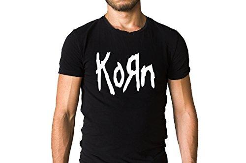 - Korn Band 1993 Title Logo Black T-Shirt