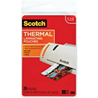 3M Corp Scotch Thermal Laminating Pouches, 4.37 Inches x 6.06 Inches, 20 Pouches, 6 Pack (TP5900-20)