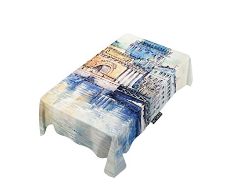 NICOKEE Polyester Decorative Tablecloth St. Petersburg City Landscape Rectangle Table Cloth Building Capital Church Cathedral Russia Table Cover for Kitchen Dinning Party End Table Protection ()