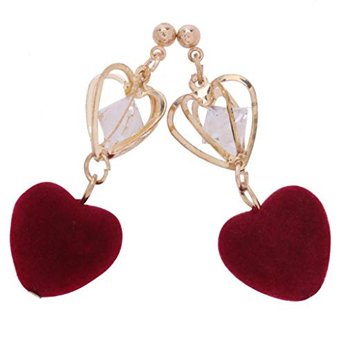 T T Store Jewelry Bohemia Mix Color Double Sided Plush Ball Dangle Earring Best Gift for Lover's Girl(As Picture16,as Pictured) ()