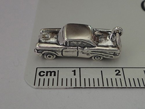 Sterling Silver 3D 20x8x7mm Old Style 1950s Chevy? Car Vehicle Charm Jewelry Making Supply, Pendant, Charms, Bracelet, DIY Crafting by Wholesale (Chevy Charm)