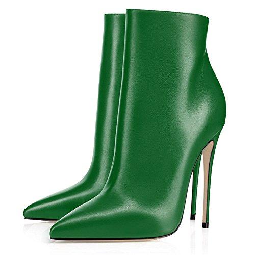 Stivaletti Tacco elashe Blocco con Alto Inverno Stivaletti Classiche Tacco Stivaletti 120mm Verde Donna Elegante Donna zzFwT1Hpq