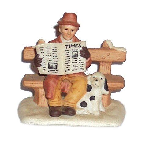 1991 Geo Z Lefton 00222 Colonial Village Kenneth Hurst and Dog Sparky Figurine