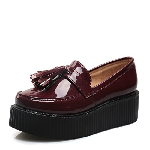 Mocassins Chaussures Femmes Frange Plate Roseg Plateforme Rouge Loafers Vogue qxXPTawdaZ