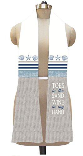 Demdaco Kitchen Towel Boa (Coastal Toes in Sand) by Demdaco
