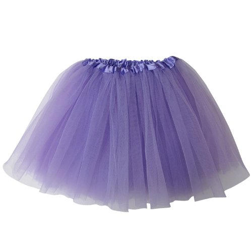 Fairy Dress Up Tutu Costumes (Ballerina Basic Girls Dance Dress-Up Princess Fairy Costume Dance Recital Tutu (Lavender))