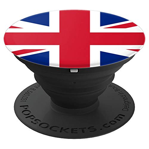 (Union Jack Flag British England English UK Great Britain - PopSockets Grip and Stand for Phones and Tablets)