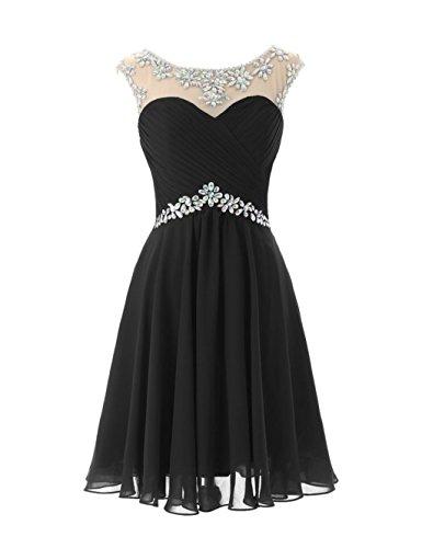 Kurz Crystal Brautjungfernkleid Fanciest Prom Brautjungfernkleides 2016 Black Damen EPqnwgS