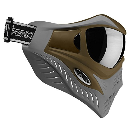 V-Force Grill Thermal Paintball Mask / Goggle - Special Color - Tan on Grey (Grey Thermal Paintball)