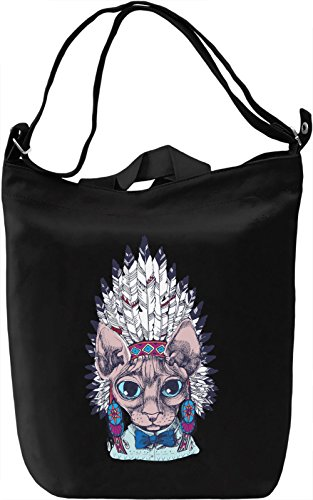 Indian cat Borsa Giornaliera Canvas Canvas Day Bag| 100% Premium Cotton Canvas| DTG Printing|