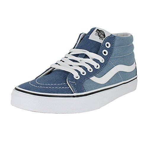 Vans Mens SK8 MID Reissue Denim 2 Tone Blue True White Size 8