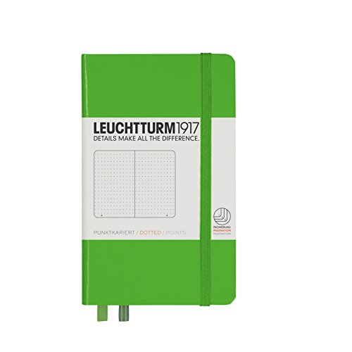 Leuchtturm1917 A6 Pocket Dotted Notebook- Fresh Green, 185 numbered pages