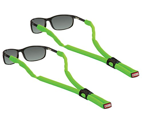 Chums Glassfloat Classic Floating Eyeglass and Sunglass Retainer / Strap, High Visibility Green (2 - Sunglass Del Costa Mar Straps