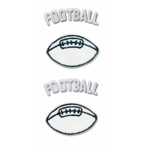 EK Success Pep Rally Embroidered Emblem Stickers - Football - Ek Success Football