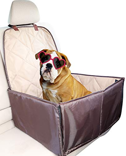 Bundaloo Dog Car Seat and Bucket Seat Cover for Pets. Dog Accessories for Front and Backseat, Universal Waterproof and Nonslip For Cars and SUVs