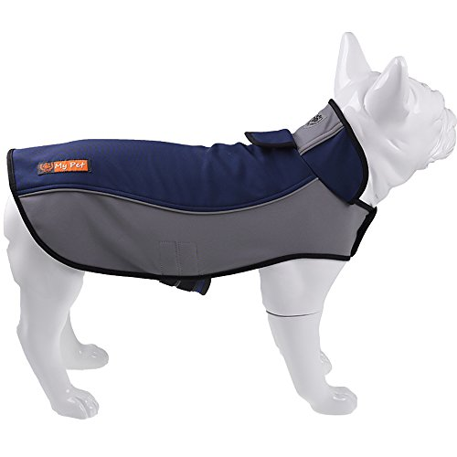 SENYEPETS Outdoor Dog Coat Dog Vest Jacket for Cold Weather Outdoor Waterproof Reflective Fleece Lined Warm (Blue, Large) Review