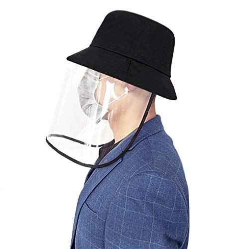 Full Face Shield Hat Protection Breathable Anti-fog Safety Bucket Hat Detachable Face Cover Anti Aroplet Transmission Sun Hat Anti-Pollution