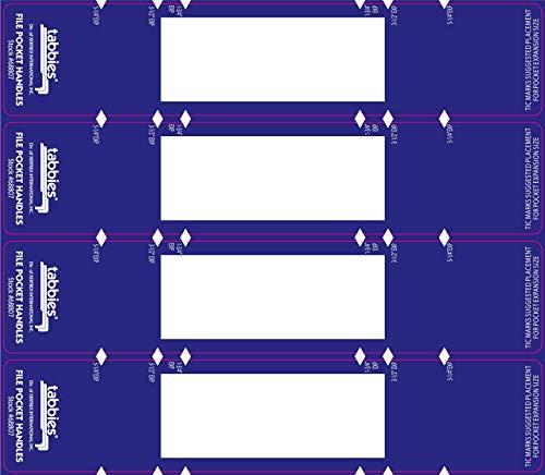(Tabbies 9-5/8 x 2 Inches File Pocket Handles, Dark Blue/White, 48 per Pack (TAB68807) )
