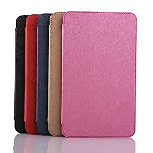 JOE Lightning Lines Pattern PU Leather Full Body Case with Card Slot for Samsung Galaxy Tab 4 8.0 T330 , Red